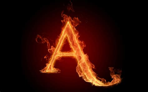 flaming letter a wallpaper 754882