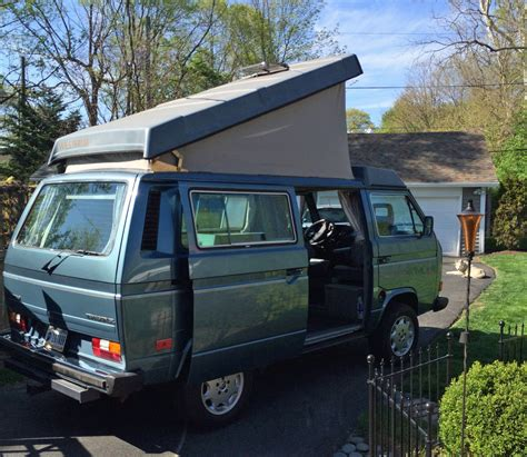 volkswagen vanagon blue 1987 vw vanagon westfalia cer w gowesty 2 2l engine