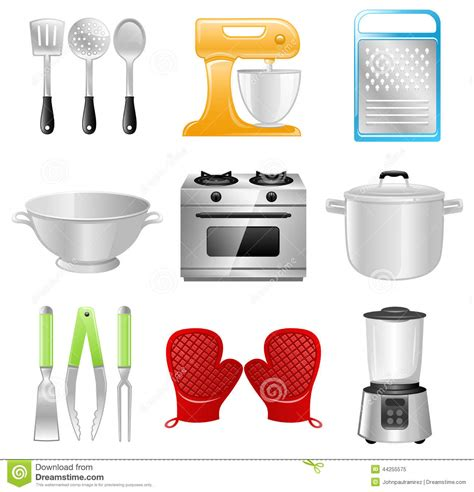 free kitchen appliances kitchen utensils cooking restaurant stock vector image 44255575
