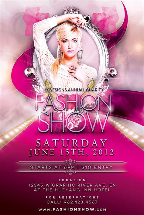 fashion flyers templates for free fashion show flyer template on behance