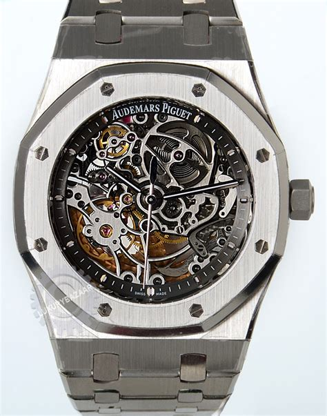 Audemars Piguet Skeleton Royal Oak Selfwinding 15305ST.OO.1220ST.01   Luxury Bazaar   www