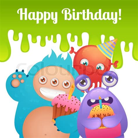 Comic Birthday Card Template by Characters With