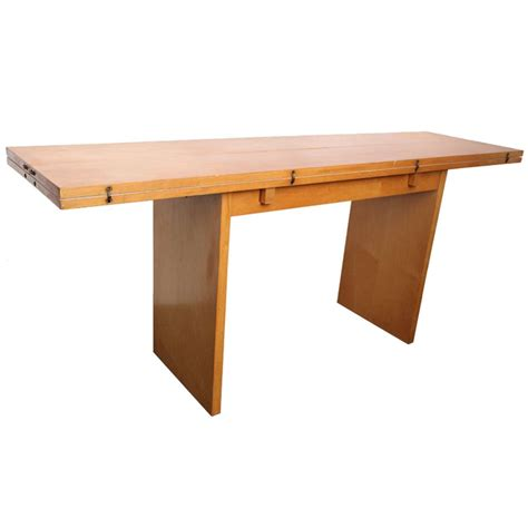 console dining table a 1940 s american modernist console dining table at 1stdibs