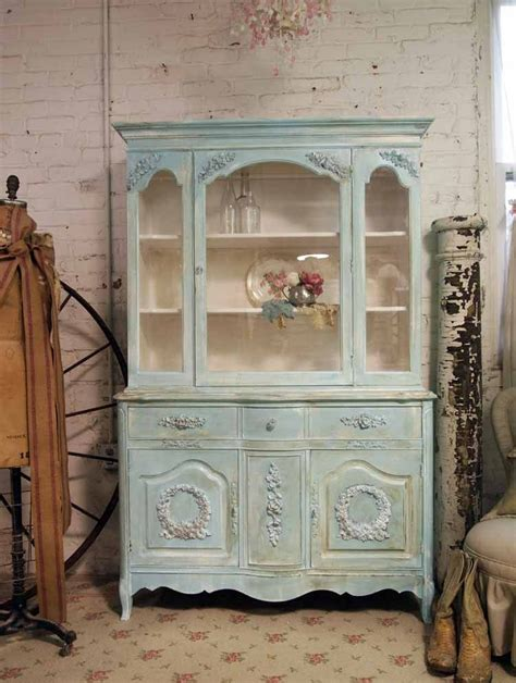 china hutch shabby chic painted cottage shabby aqua chic