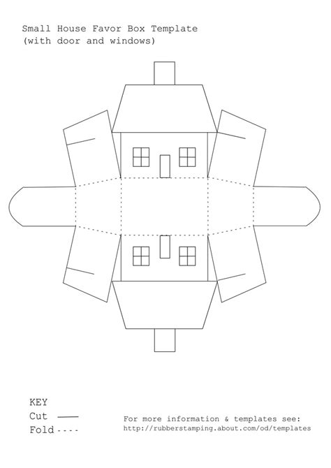 use this free printable template to make a small house