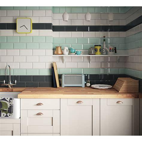 Wickes Kitchen Wall Cabinets Wickes Metro White Ceramic Tile 200 X 100mm Wickes Co Uk