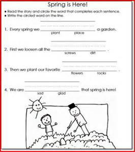 20 gallery of reading and writing worksheets for 1st grade