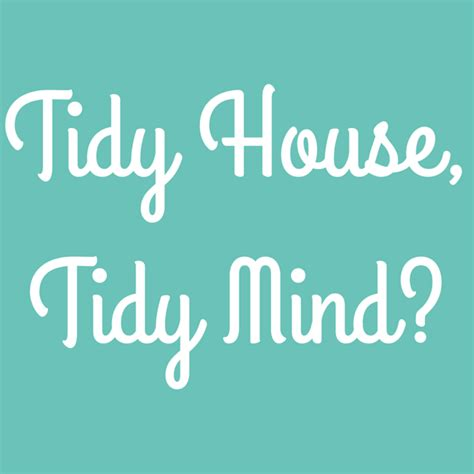 tidy house tidy house tidy mind single mother ahoy