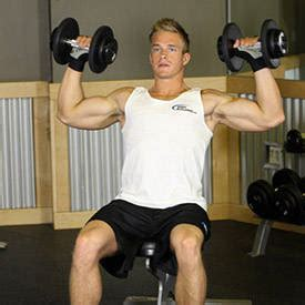 military press vs bench press seated dumbbell press exercise videos guides
