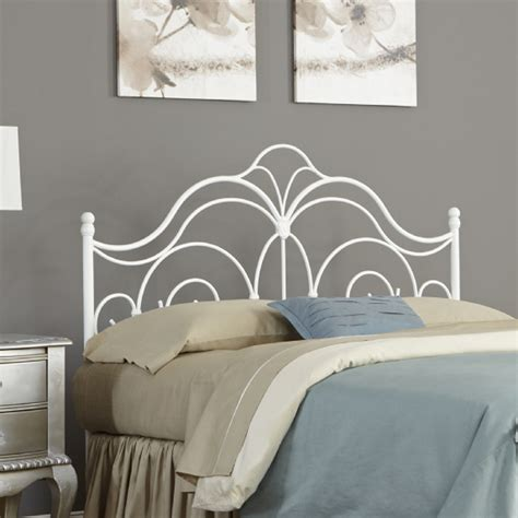 white metal headboard fashion bed group rhapsody headboard b10174