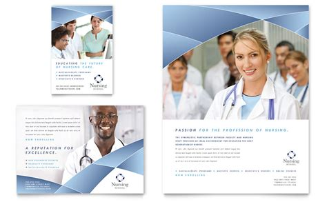 nurses week flyer templates nursing school hospital flyer ad template word publisher