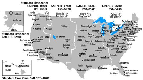 gmt time zone map usa when do clocks change set clock forward 1 hour overnight