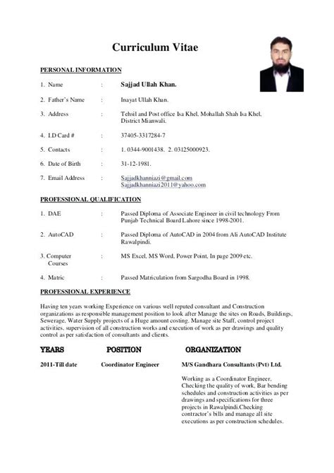 resume format for engineering freshers doc sle resume format for civil engineer fresher resume template easy http www