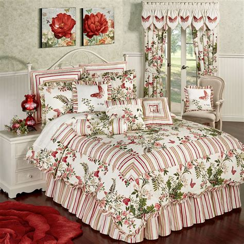 Floral Quilt Set by Butterfly Garden Floral 4 Pc Quilt Set