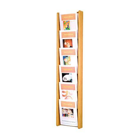 Literature Rack Wall Mount by 6 Pocket Wall Mount Oak Literature Rack