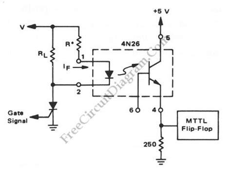 optocoupler load resistor interfacing high power load to logic level with optocoupler circuit diagram world