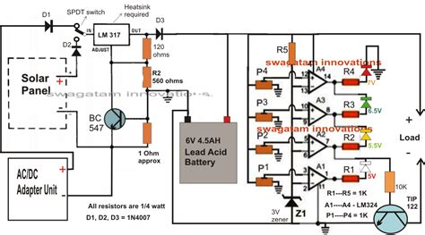 solar battery charge controller circuit diagram electrical engineering world how to make 6v solar battery