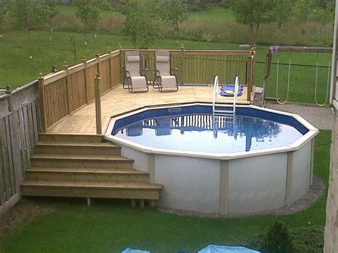 ground pool decks    build diy guide