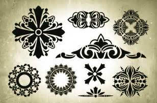 victorian designs victorian era vector design elements