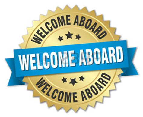 Home Tuition Board Design 44623115 welcome aboard 3d gold badge with blue ribbon