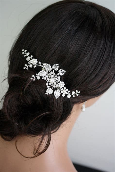 Wedding Hair Pieces by Bridal Hair Comb Wedding Hair With Swarovski By