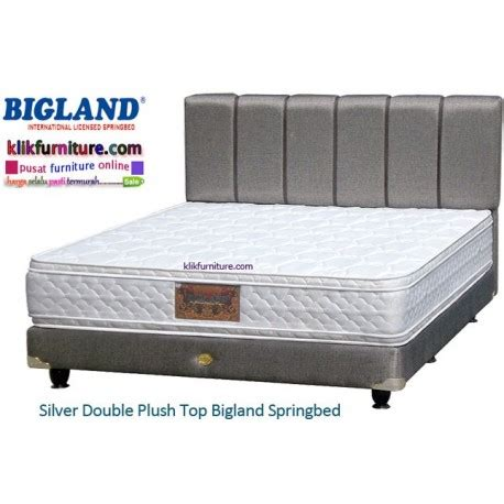 Bed Bigland Silver silver plush top bigland bed