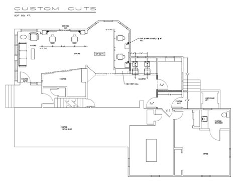 Create Salon Floor Plan by Barber Shop Design Layout Floor Plan Barber Shop Floor