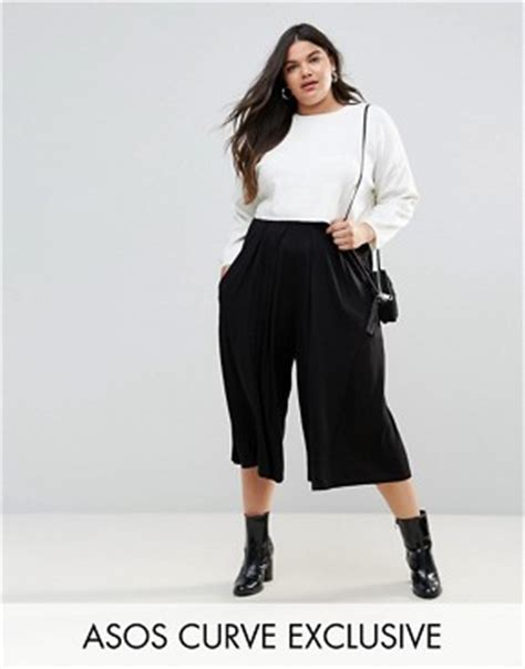 Pleated Midi Cullote culottes shop for trousers midi skirts asos