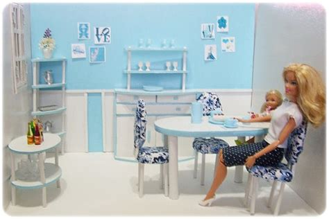 barbie dining room set barbie size diorama 1st dining room set