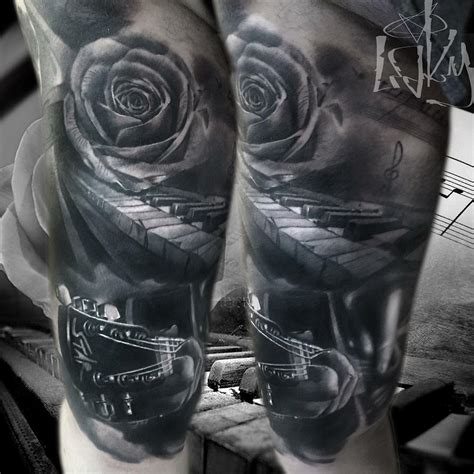 musical instruments tattoo designs musical best ideas gallery