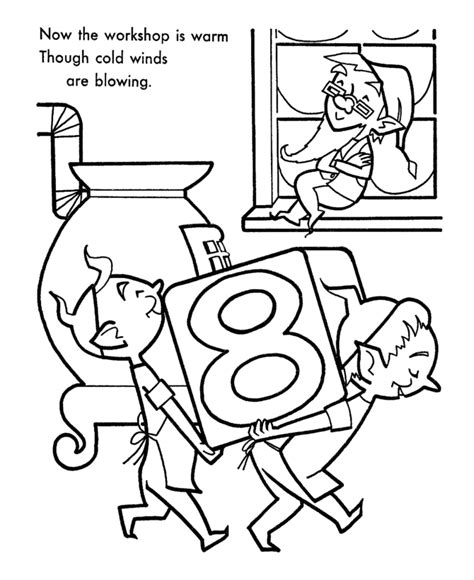 coloring pages of santa s workshop santa s helpers coloring pages elves workshop coloring