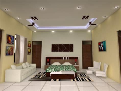 latest false designs  living room bed room