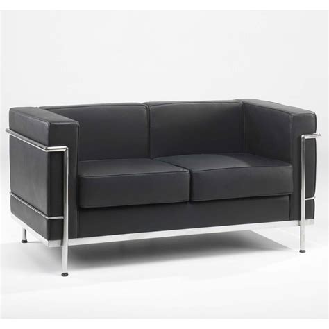 Leather Reception Sofa Leather Reception Sofa In Black Or White Black And Chrome Sofa Sofa With Chrome Frame