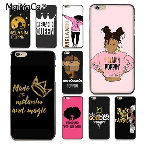 maiyaca melanin poppin aba queen black girl coque shell phone case  apple iphone