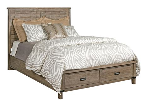 what is a panel bed rustic panel bed with storage footboard by