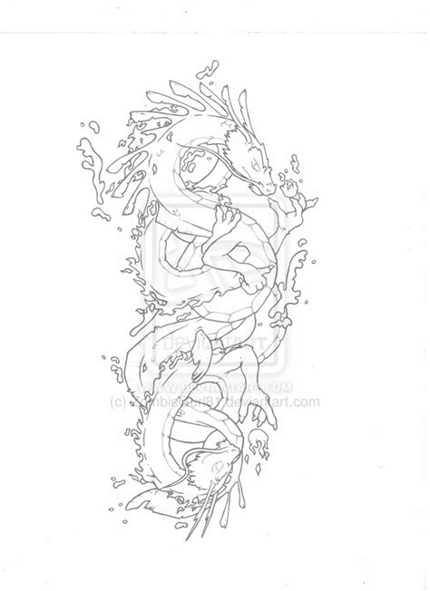 twin dragon tattoo designs design by zombiegurl81 on deviantart