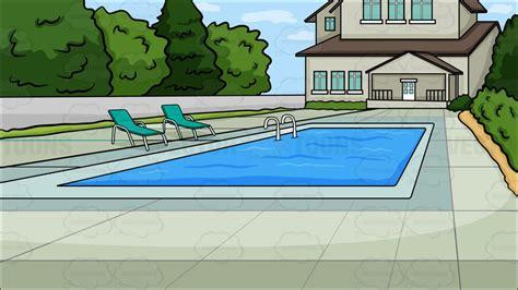backyard cartoon a backyard pool background vector clip art cartoon