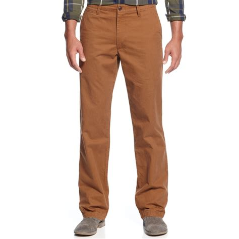 Khakis Pant dockers straightfit the clock khaki in brown for lyst