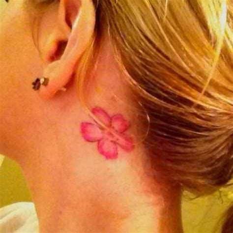 flower tattoo behind ear cherry blossom flower tattoo behind ear tattoos that i