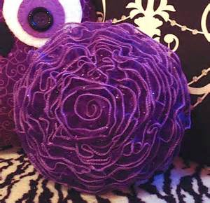 Wired Ribbon Flowers - how to make a decorative flower pillow youtube