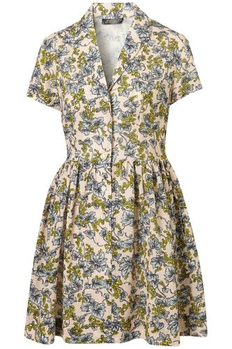 Yay Or Nay Rumer Williss Neutral Ensemble by Topshop Wisteria Shirt Dress 7 Beautiful Vintage Look