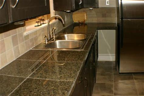 Granite Tiles And Mosaics On The Floor My Home Design Tiled Kitchen Countertops