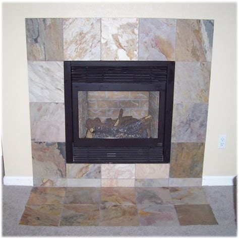 Fireplace With Slate Tile Surround by Tile Floors Showers And Fireplaces In Denver Colorado