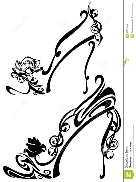 flower shoes stock vector image 43965049