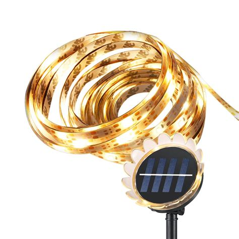 solar powered led strip lights arilux 5m smd2835 sunflower waterproof solar powered warm