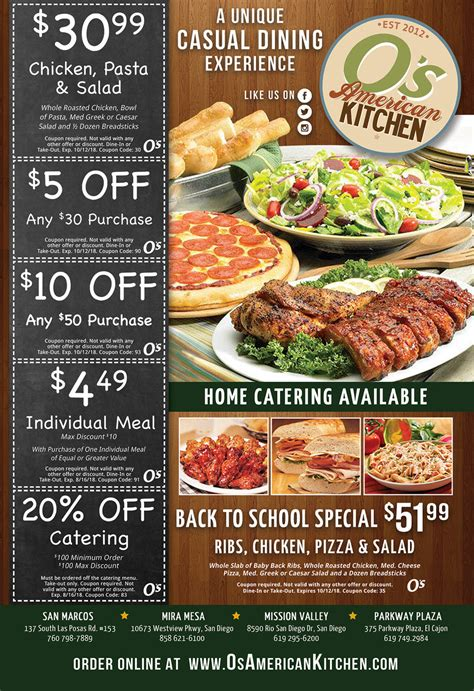 os american kitchen coupons couponshy