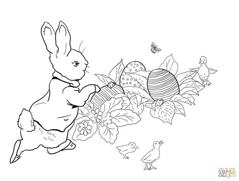 coloring pages easter egg hunt peter rabbit easter egg hunt coloring page free