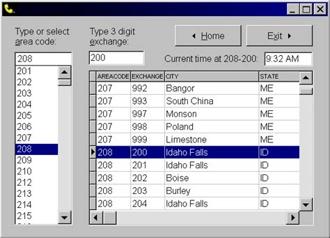 us area code and exchange database mobeely phone dailer software addraman address
