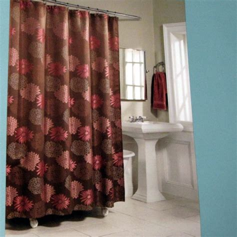 brown and pink shower curtain kohl s mariana brown pink fabric shower curtain by home