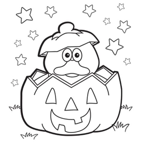 easy coloring pages for halloween duck pumpkin free n fun halloween from oriental trading